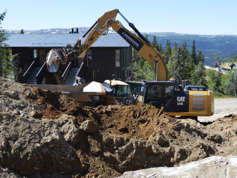 Tomtearbeid utgraving av tomt