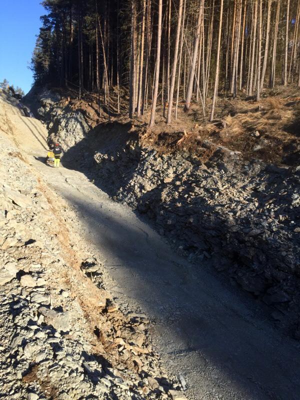 Tokse-vest-VVA-anlegg fylling grøft ved skog