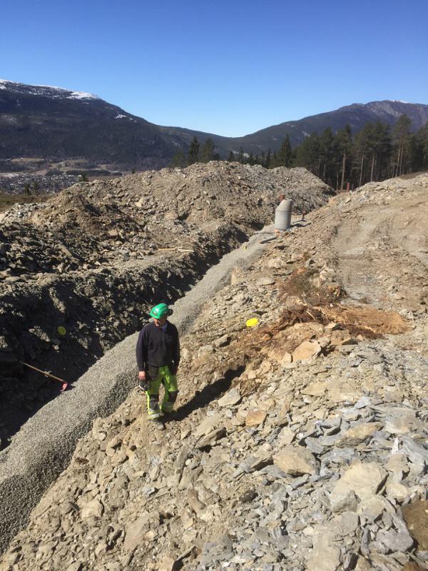Tokse-vest-VVA-anlegg fylling grøft arbeider